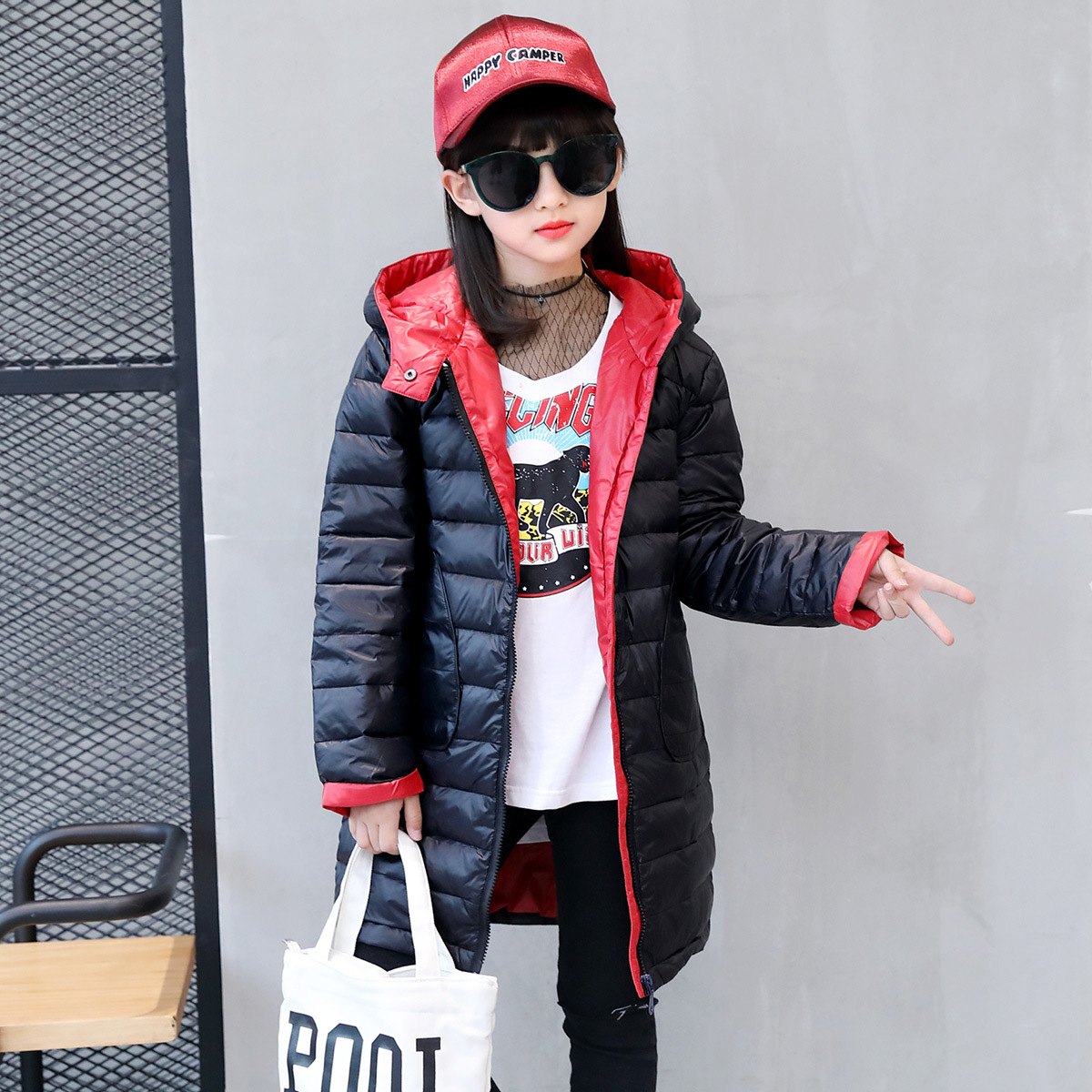Children Hooded Thicken Clothing Girls Winter Coat 2017 New Kids Parka Warm Cotton Down Winter Girls Jackets Girls Outerwear цены