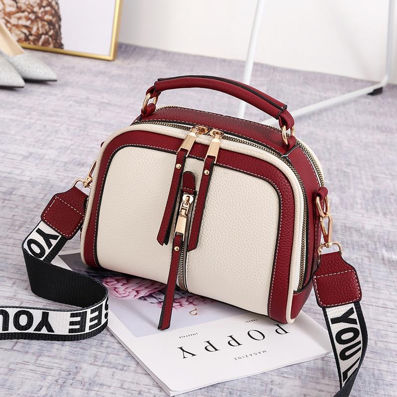 YINGPEI Women Messenger Bags Leather Shoulder Bag Ladies Handbags 2018 New Purse Satchel Fashion Tote Bags Gift недорого