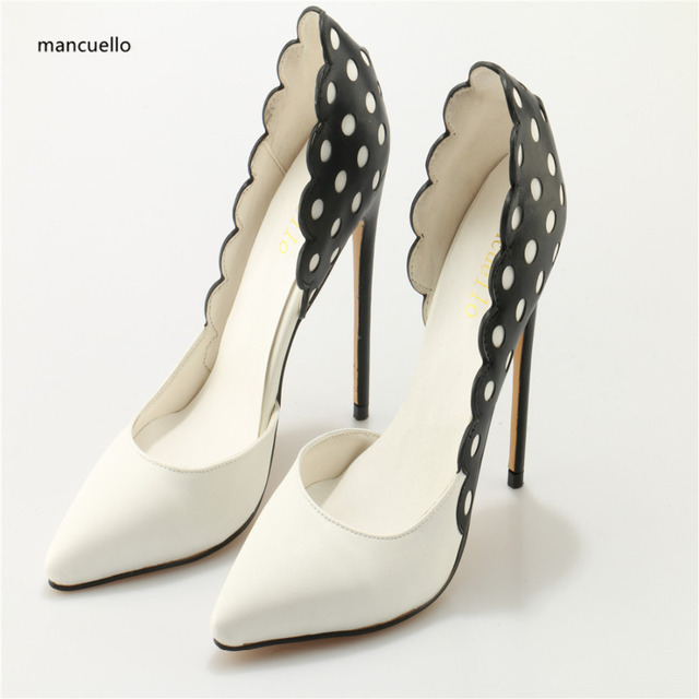 Aliexpress.com : Buy mancuello Black White Women Pumps Wedding ...