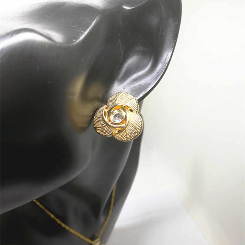 Fani מותג Stud עגילי תכשיטי דובאי זהב להתנדנד עגיל איכות עגול תכשיטים עגיל לנשים חתונה עגילים