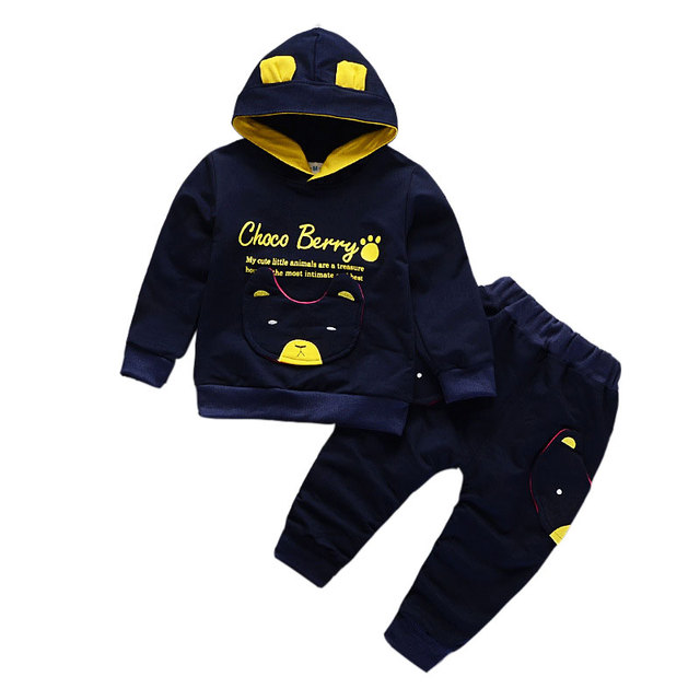 18M-5T Baby Boys Girls Clothing Letter Hoodie + Trousers Boys Clothing 2018 Two Pcs Kids Clothing Sets Autumn Children Clothing