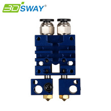 3 dsway 3D-принтеры Запчасти Улучшенная Химера 2 в 2 из hotend комплект мульти-экструзии двойной головки экструдера 0.4 мм /1.75 мм