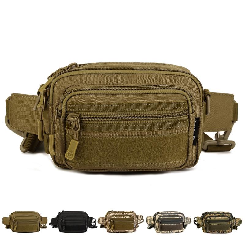 Military Molle Shoulder/Messenger Crossbody Bag Men 1000D Nylon Travel Fanny Assault Male Waist Pack Belt Clutch Cell Phone Bag
