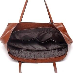 Image 3 - SWDF sac à main en cuir pour femmes, fourre tout de styliste grande capacité, sacs à bandoulière loisirs mode, fourre tout