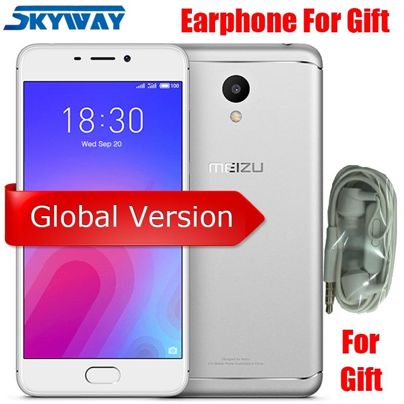 Global Version Meizu M6 2gb Ram 16gb Rom Octa Core Mtk6750 Mobile Phone 5.2 Inch 13.0mp Rear Camera 3070mah Fingerprint Id
