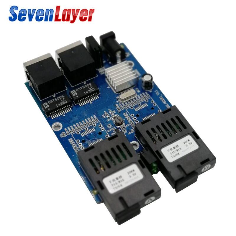 10/100/100 0 M Faser Schalter 2 Rj45 Utp 2 Sc Fiber Gigabit Fiber Optical Media Converter 2sc 2rj45 2utp Ethernet Pcba Bord Hell Und Durchscheinend Im Aussehen