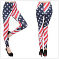 New 2016 fashion women American Flag printing casual leggings fitness legging Dancing Pants soft cheap clothes china clthing