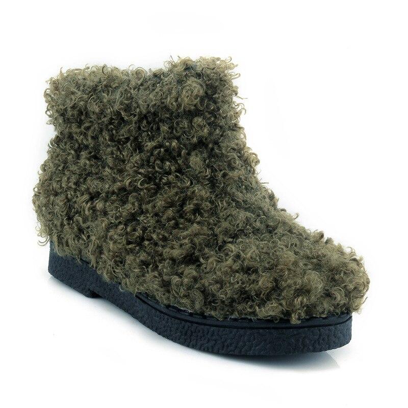 1b971e735 verde Coreano gris Mujeres Nuevo Botas Piel Invierno De E Otoño 2019 Plana  Negro Las Zapatos 6qH0Txw