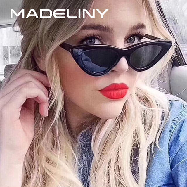 5641cd051ad MADELINY Cat Eye Sunglasses For Women Brand Designer Retro Sun Glasses  Female Vintage Small Cat Eye Glasses UV400 2018 MA401