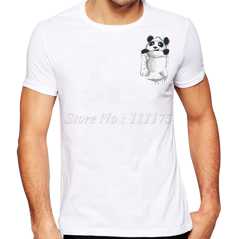 Buy 2017 funny pocket panda printed t for Pocket t shirt printing