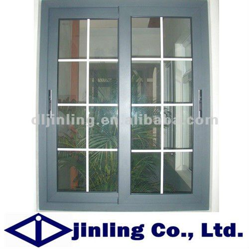 Thermal Break Aluminum Window Sliding Window Grill Design In Windows