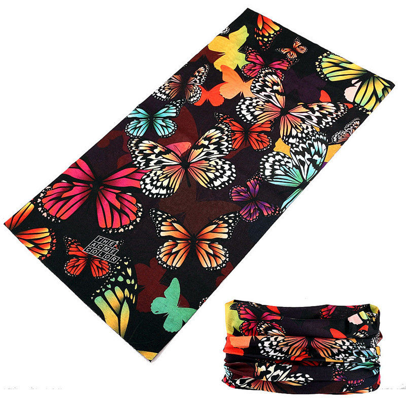 Colorful Butterfly Headband Buffe New Design Custom Pattern Tube Bandana Sports Headwear Cycling Head Scarf Face Shield Kerchief