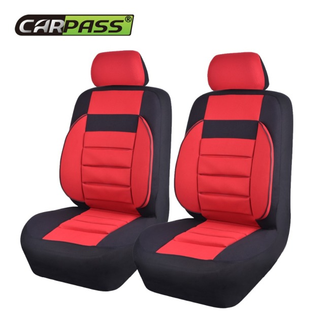 Car Pass Brand 2 Pieces Lot Soft Sofa Universal Seat Covers Red Blue