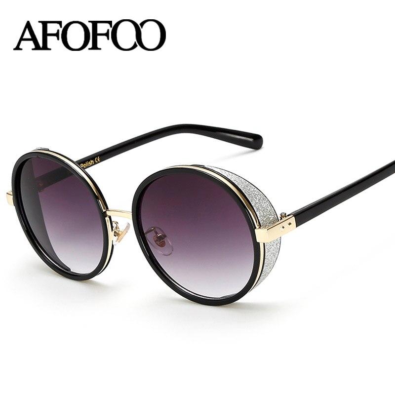Afofoo vintage round sunglasses women mirror uv400 for Küchenteppiche