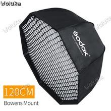 Godox SB-UE, 120 см, 47 дюймов, портативный восьмиугольный зонт, софтбокс с сотовой сеткой для студийной вспышки Bowens, софтбокс CD50 T03 H