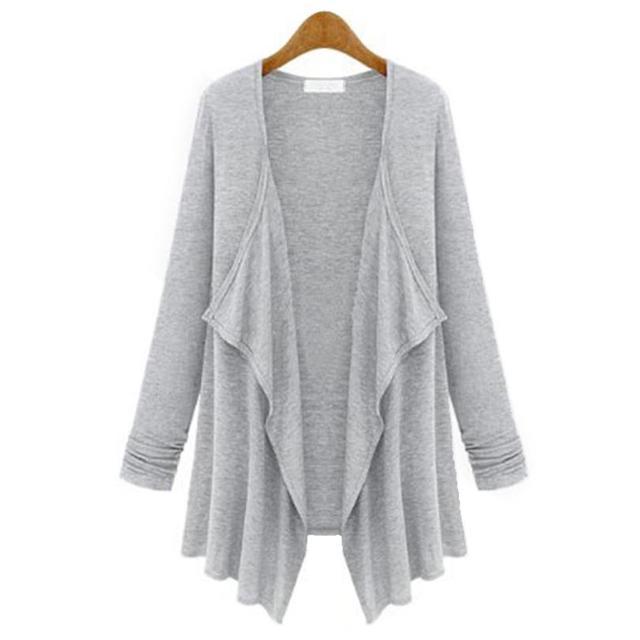 FinalFit Kimono Cardigan Mujeres, suelta Crepe Camiseta Primavera Verano Otoño Irregular de La Rebeca Femenina