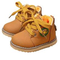 Baby Boots 2017 Fashion Cute Winter Baby Boys Girls Child Army Style Martin Boot Warm Shoes