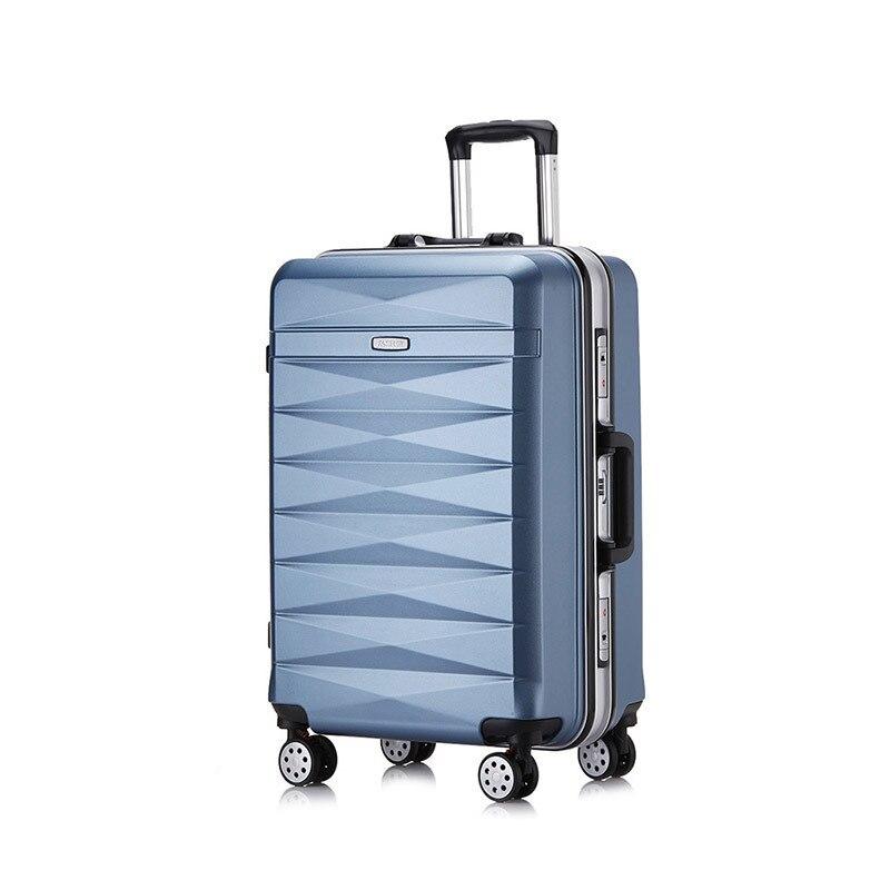 Portable Universel Bagages Pour Pc Hommes light Abs Blue Et Voyage Capacité Élégant Powder Cas Gray gold dark Muet Roue Chariot Grande Femmes Blue Sac red wqC00XI