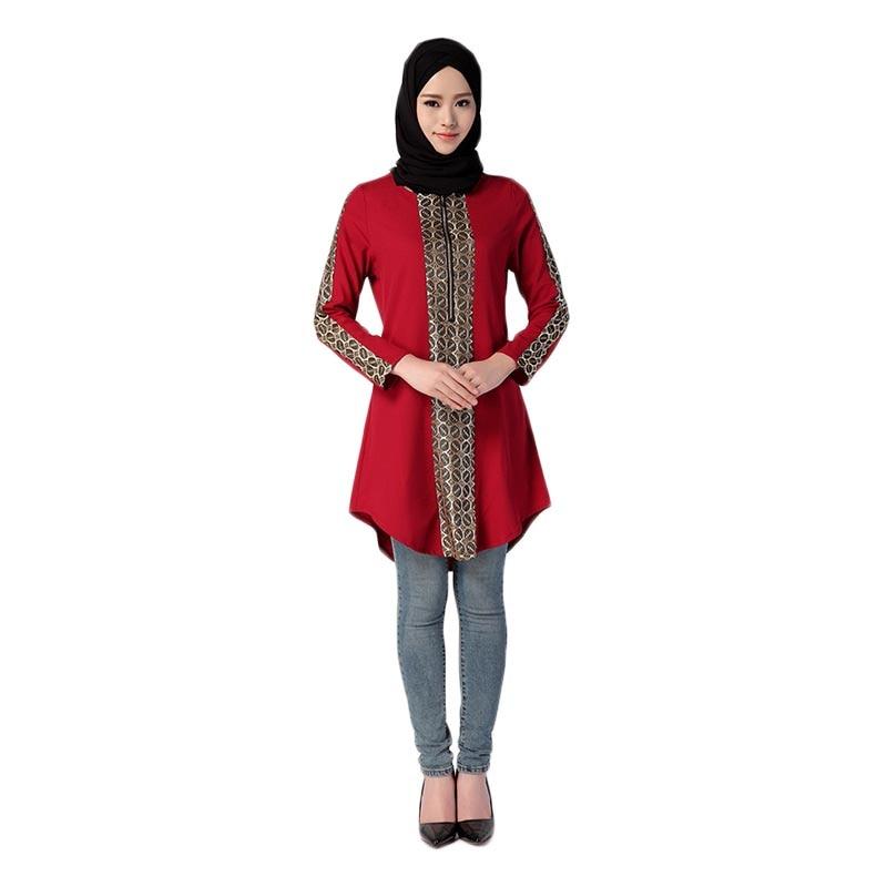 Muslim Women Burka Long Sleeve Dubai Kaftan Splice Tops Middle East Arab Islamic Elegant Lady Girls Medium Length Blouse
