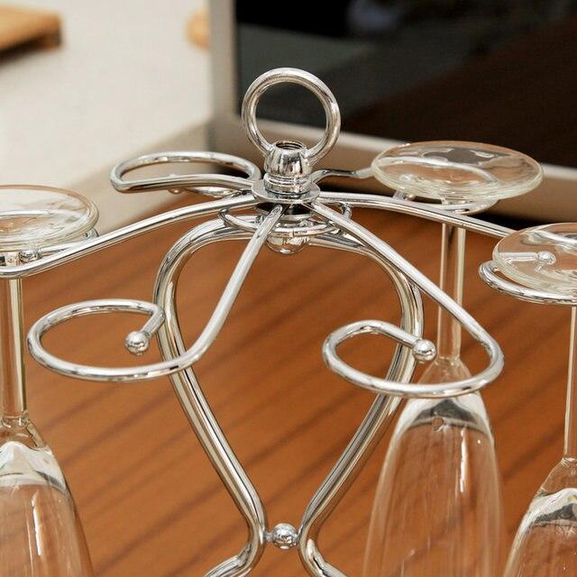 ORZ Wine Glass Cup Holder Metal Champagne Stemware Storage Rack Goblet  Glass Hanger Stand Bar Storage Organizer Accessories