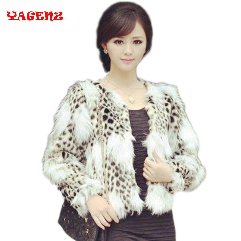 Faux Fur short coat 2017 New High Winter Coat Women Faux Fur Coat Short paragraph leopard pattern fur short coat faux fur coat