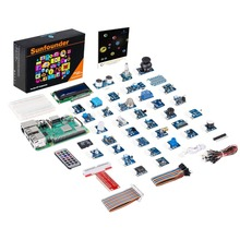 Sunfounder raspberry pi 3 modelo b + 37 módulos sensor kit v2.0 para rpi 3 b +, 2b, a +, zero
