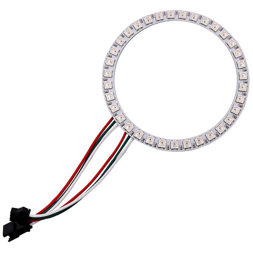 1 pièces adressable WS2812B SK6812 16/35/45 LED s Pixel anneau Modules DC5V RGB couleur LED anneau lampe lumière pour arduino kit de bricolage 2