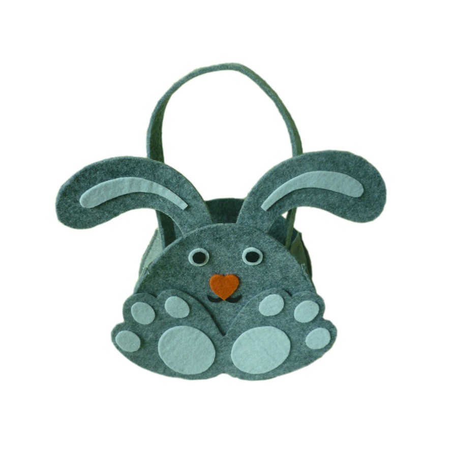 Online get cheap cute easter baskets aliexpress alibaba group new easter cute gray rabbit ear gift candy bag easter baskets for kids gifts festival new negle Image collections