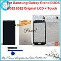 Para samsung galaxy grand i9082/9082 original do telefone móvel novo Lcd de substituição + Touch Screen + Quadro Cola livre grátis