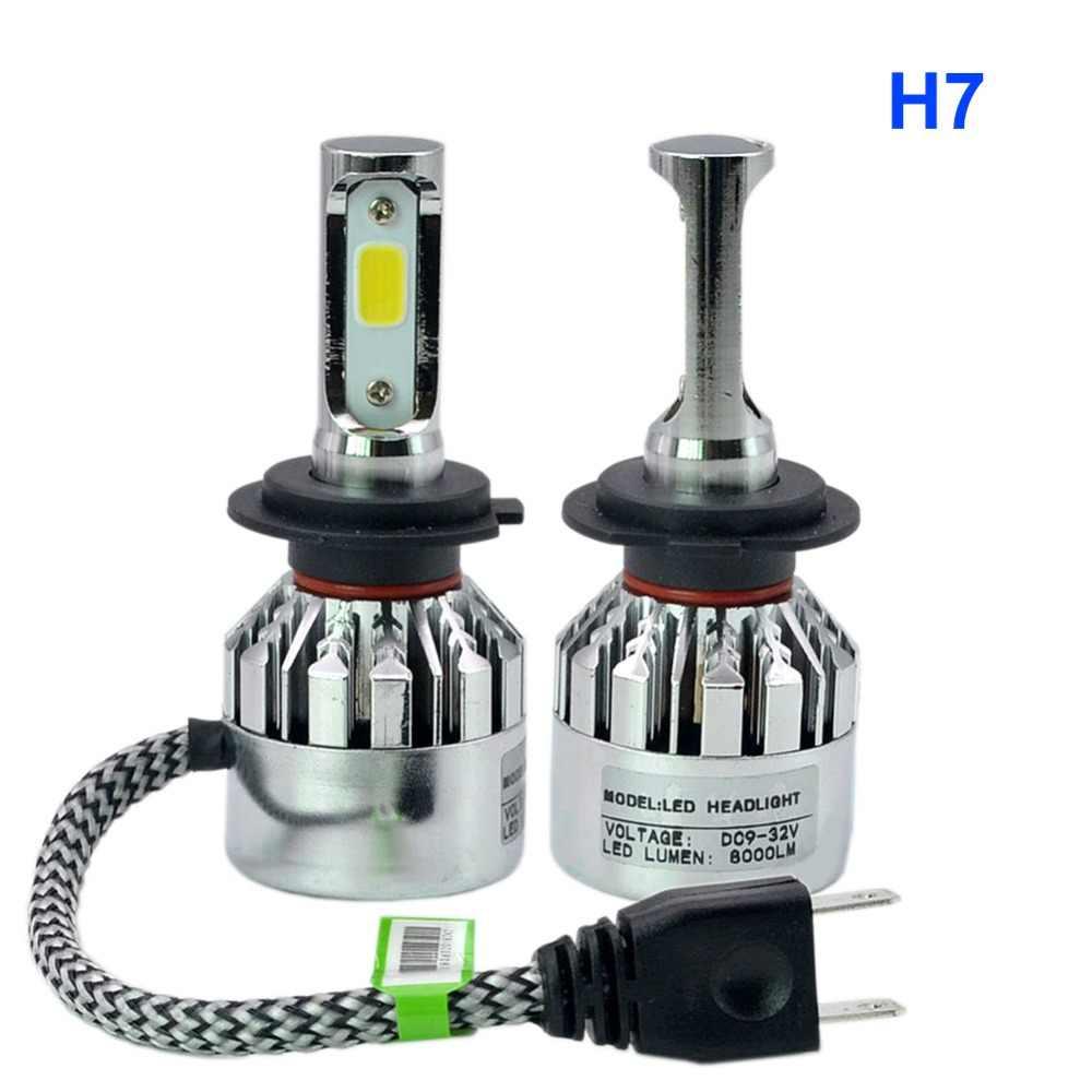 LED H4 H7 H1 H11 H3 H8 H9 9005 HB3 9006 HB4 881 Bulb Silver Chrome Fog Light 6500K 72W 8000Lm LED Headlight Lamps Bulbs For Car