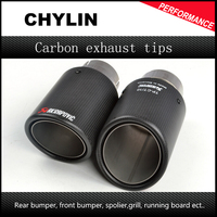 Car Styling Inlet 51mm To Outlet 89mm Akrapovic Carbon Exhaust Tip Escape Akrapovic Muffler Tip