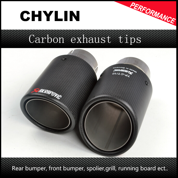 styling automobilu Inlet 51mm do Outlet 89mm Akrapovic Carbon Exhaust Tip, Escape Akrapovic Muffler Tip