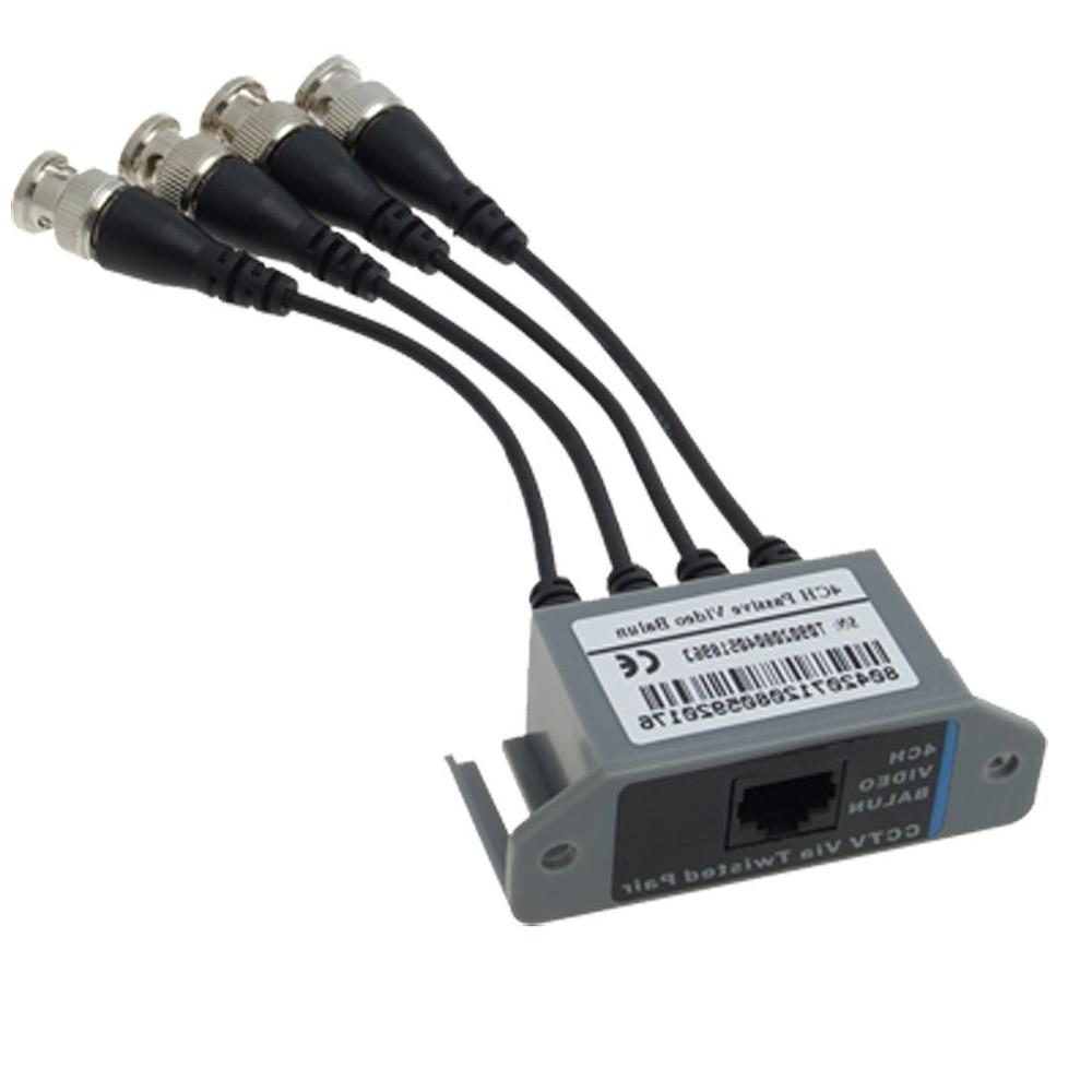 IMC Hot New CCTV 4 Channel Passive UTP Transmitter Video Balun BNC Male to UTP RJ45 CAT5