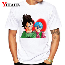 цена на Dragon Ball Z T-Shirt Men Women 3D Print Goku Vegeta Bulma Graphic Tees Casual Dragon Ball Couple White Tee Shirts Unisex Tops