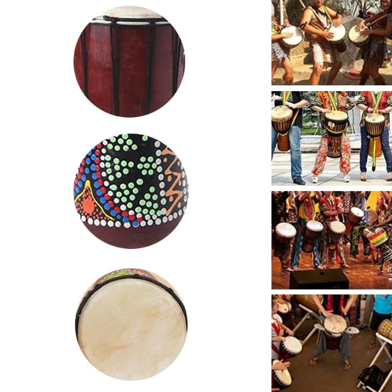 Drum Accessories 30cm Professional African Djembe Drum Bongo Wooden Good Sound Musical Instrument