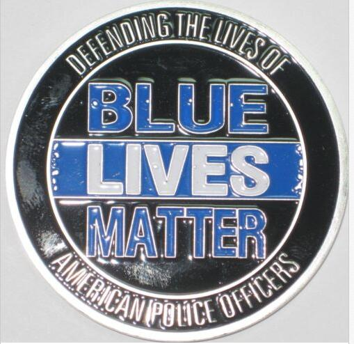 50pcs/lot Dhl free shipping  Combo-Blue-Lives-Matter-Law-Enforcement-Challenge-Coin-and-BLM-wristband