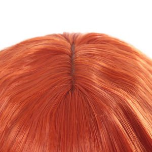 Image 4 - L email wig New Women Wigs 30cm/11.81inch Short Curly Orange Heat Resistant Synthetic Hair Perucas Cosplay Wig