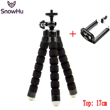 SnowHu Mini Flexible Sponge Octopus Tripod For iPhone Xiaomi Huawei Smartphone Tripod for Gopro 9 8 7 6 Accessory With PhoneLD06 1