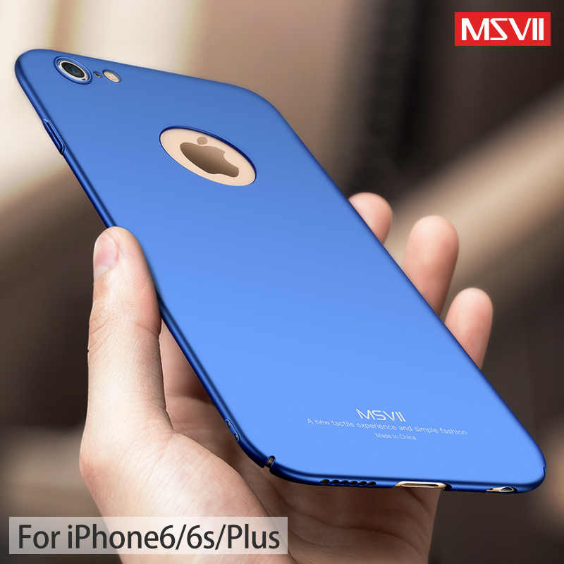 premium selection 7b29d 5a589 Msvii For iphone 6s case for iphone 6 case Ultra Thin Full protection Hard  Frosted PC back cover for iphone 6 6s plus case cover