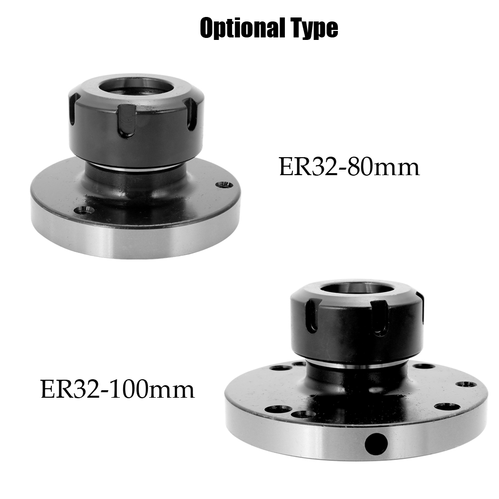ER 32 Collet Chuck Compact Lathe Tight Tolerance CNC Collect Chuck 80mm 100mm Diameter Optional