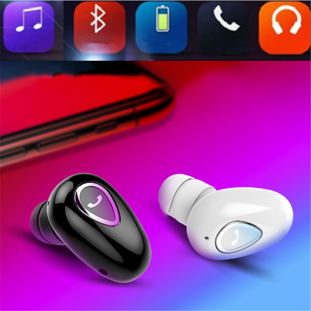 New Wireless Bluetooth V4.1 Mini Invisible In-Ear Headset Earphone with 3D Stereo Surround Bass Sound Quality image