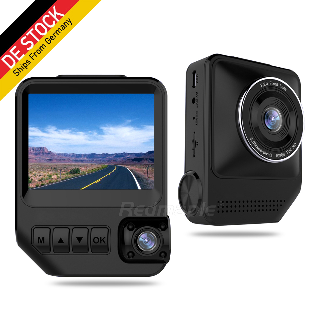 2.3 Car DVR Dual Lens Full HD 1080P 170 Degree Dashcam Video Looping Recorder Night Vision Car Camcorder DVR Camera Dash Cam