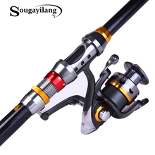 Sougayilang 1.8-3.6m Telescopic Fishing Rod and 11BB Fishing Reel Wheel Portable Travel Fishing Rod Spinning Fishing Rod Combo