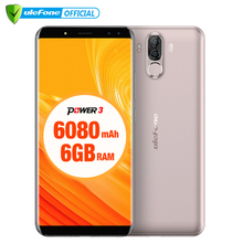 "Ulefone Power 3 6.0""18:9 Screen Mobile Phone MT6763 Octa Core 6GB+64GB Android 7.1 21MP Quad Camera 6080mAh Face ID Smartphone(China)"