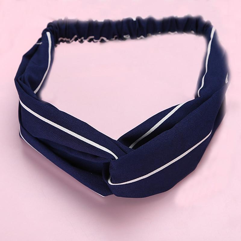 Women Cute Striped Headbands Cross Shaped Hairdbands Female Summer Hair Bands Fashion   Headwear   Headwrap Hair Accessories Turban