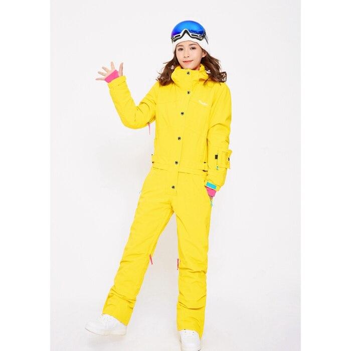 Синий волшебный зимний сноуборд kombez лыжная куртка и брюки лыжные костюмы женский комбинезон женский сноуборд водонепроницаемый комбинезон Россия - Цвет: NEW YELLOW