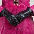 Free Shipping Kursheuel Women Genuine Lambskin Leather Gloves Lady Winter Warm Gloves Women Gloves KU-023