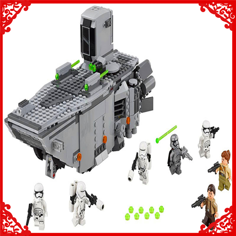 845Pcs Star Wars First Order Transporter Model Building Block Toys LEPIN 05003 Educational Gift For Children Compatible Legoe hot sale building blocks assembled star first wars order poe s x toys wing fighter compatible lepins educational toys diy gift