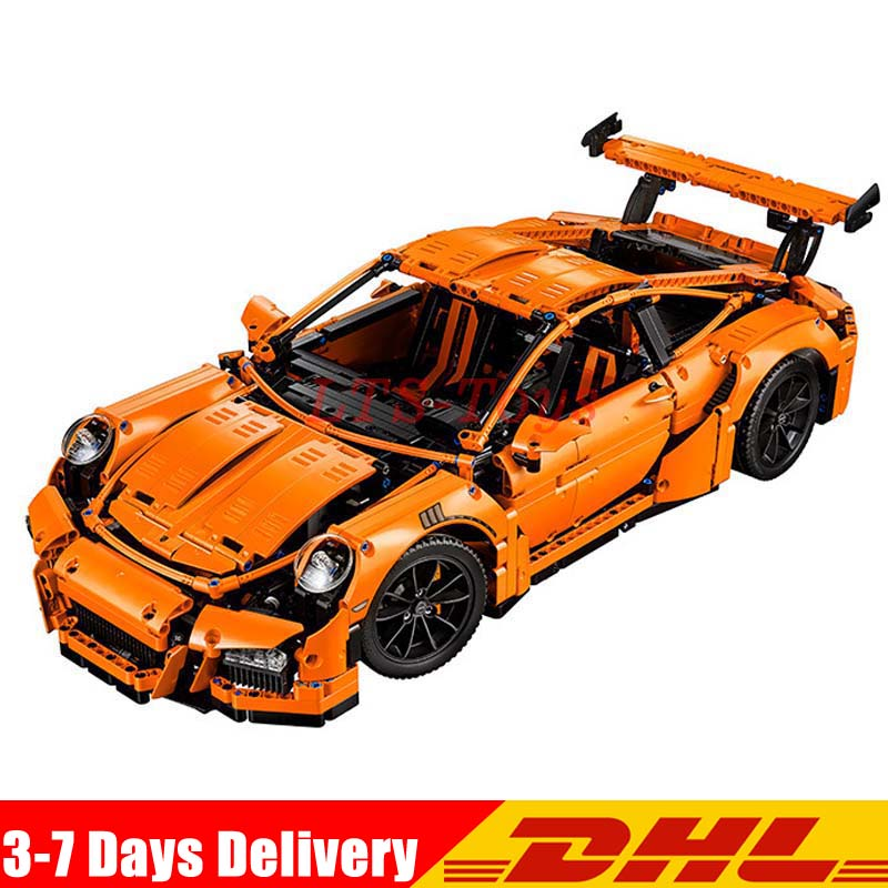 цены LEPIN 20001 Technic Series Race Car Model 20001B Building Kit Blocks Bricks set 42056 Educational 21014 DIY Boy's Birthday Gifts