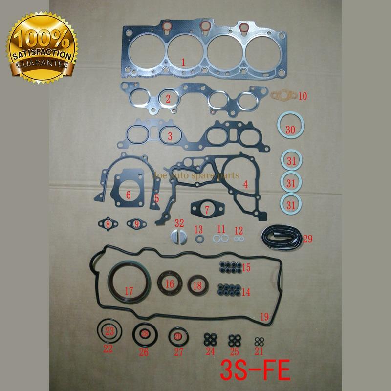 3 S 3SFE двигателя полный комплект прокладок Комплект для TOYOTA Camry Carina 2,0 1998CC 16 В DOHC 1986-1992 04111-74191 01-52860-03 S80991-02
